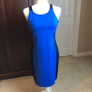 Athleta Racerback Swim Dress Blue and Navy Sz S